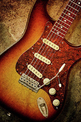 John Mayer Photograph - Sunburst Stratocaster by WB Johnston