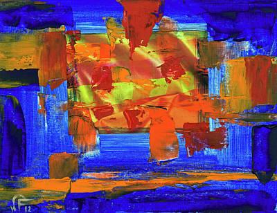 Painting - Sunburst by Walter Fahmy