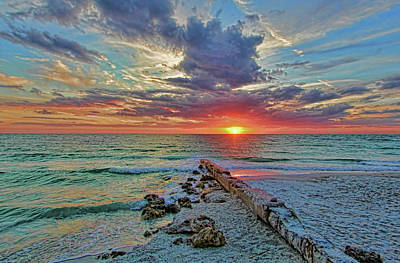 Photograph - Suncoast Seascape by HH Photography of Florida