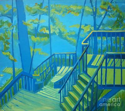 Suncook Stairwell Art Print by Debra Bretton Robinson