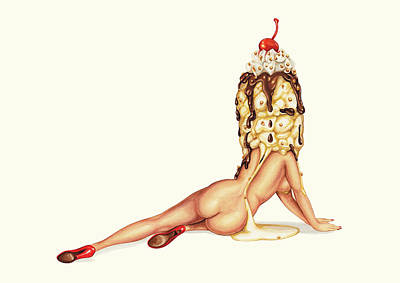 Pin-up Painting - Sundae Best by Kelly Gilleran
