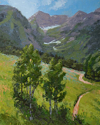 Painting - Sundance Mountain Bike Trail by Stephen Bartholomew