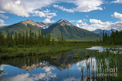 Photograph - Sundance Peak In Vermillion Lakes by Mike Reid