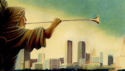 Sundance Painting - Sundance Sqaure Fort Worth Tx by Mike Massengale