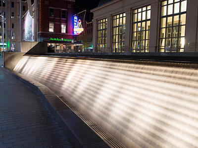 Photograph - Sundance Square Waterfall by Rospotte Photography