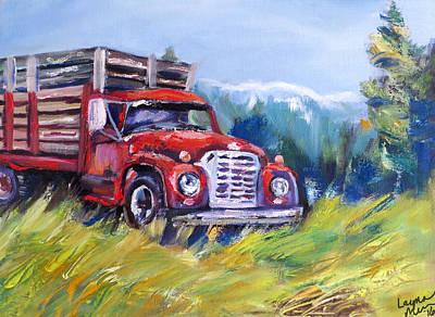 International Harvester Truck Painting - Sundance Truck by Layna Melvin