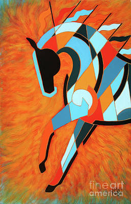 Painting - Sundancer Of The Fire II by Barbara Rush