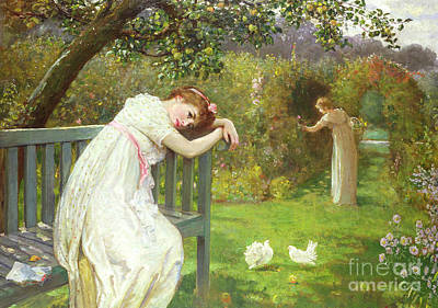 Sunday Afternoon - Ladies In A Garden Art Print by English School