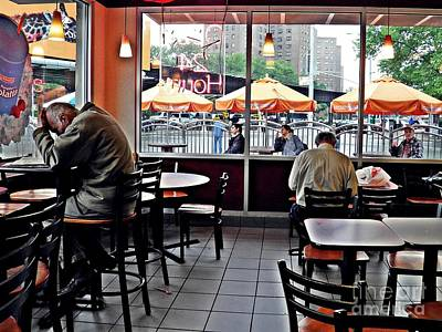 Sunday Afternoon Photograph - Sunday Afternoon At Dunkin Donuts by Sarah Loft