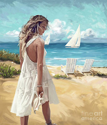 Painting - Sunday Afternoon At The Beach by Tim Gilliland