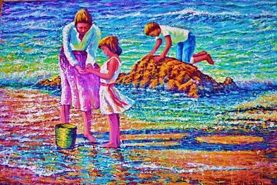 Sunday Afternoon Beach Study Art Print