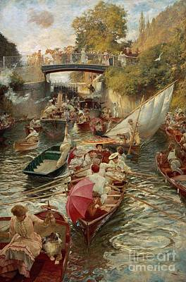 Sunday Afternoon Art Print by Edward John Gregory