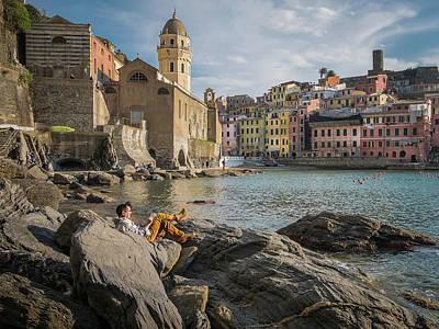 Photograph - Sunday Afternoon In Vernazza by Michael Thomas