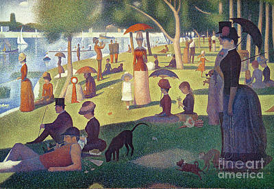 Pug Wall Art - Painting - Sunday Afternoon On The Island Of La Grande Jatte by Georges Pierre Seurat
