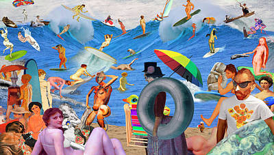 Sunday Afternoon Postmodern Beach Art Print by Barry Kite