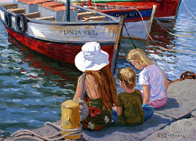 Quayside Painting - Sunday Afternoon by Roelof Rossouw