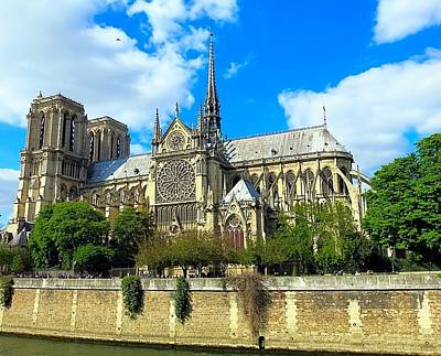 Photograph - Sunday Afternoon View Of Notre Dame by Betty Buller Whitehead