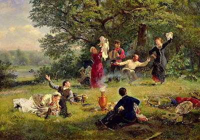 Sunday Picnic Painting - Sunday by Alexei Korsuchin