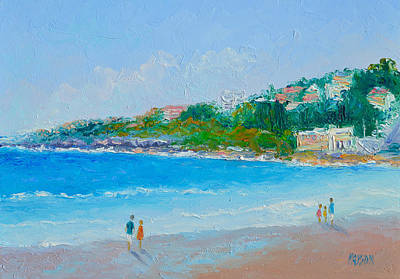 Australian Holiday Painting - Sunday At Coogee Beach  by Jan Matson