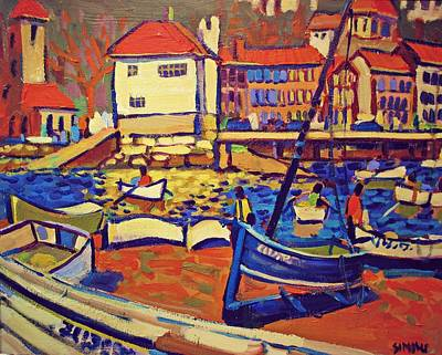 Sunday Boaters Art Print by Brian Simons