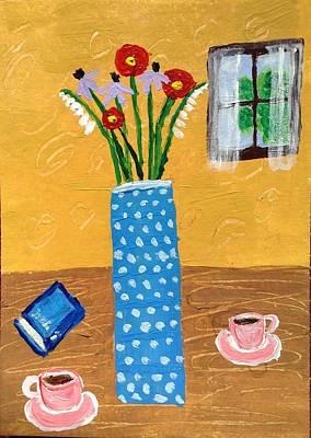 Painting - Sunday Espresso by Lynn-Marie Gildersleeve