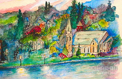 Painting - Sunday Evening In Skaneateles Ny by Melanie Stanton