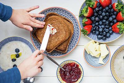 Sunday Family Breakfast Art Print by Anna Denisova