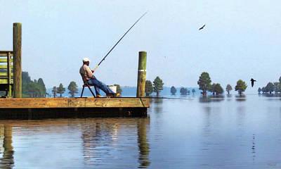 Digital Art - Sunday Fisherman by Deborah Smith