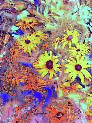 Digital Art - Sunday Flower by Susanne Baumann