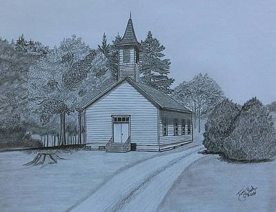 Drawing - Sunday In Fairview  by Tony Clark