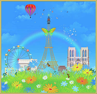 Digital Art - Sunday In Paris by Harald Dastis