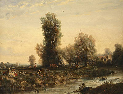 Louis-nicolas Cabat Painting - Sunday In The Country by Nicolas-Louis Cabat