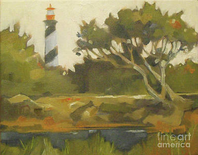 Painting - Sunday Lighthouse by Mary Hubley