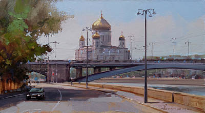 Moscow Wall Art - Painting - Sunday Mood. Sofiyskaya Embankment. by Alexey Shalaev