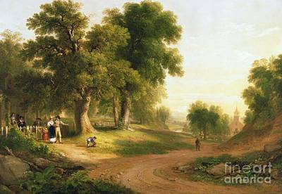 River Painting - Sunday Morning by Asher Brown Durand