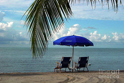 Sunday Morning At The Beach In Key West Art Print by Susanne Van Hulst