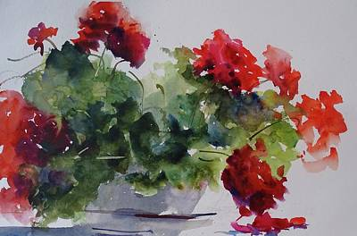 Painting - Sunday Morning Geraniums by Sandra Strohschein