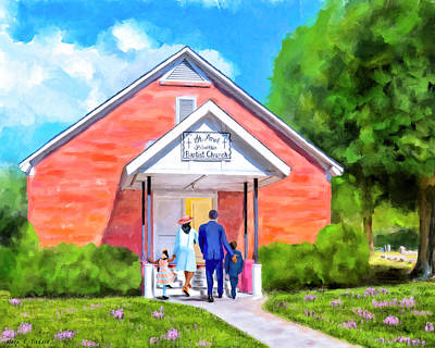 Art Print featuring the painting Sunday Morning In South Georgia by Mark Tisdale