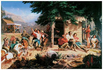 Miners Painting - Sunday Morning In The Mines by Charles Christian Nahl