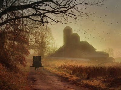 Amish Photograph - Sunday Morning by Lori Deiter