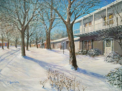 Sunday Morning Snow Original by Edward Farber