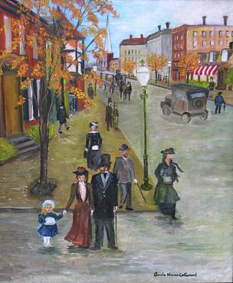 Horse And Buggy Painting - Sunday Morning Stroll by Aurelia Nieves-Callwood