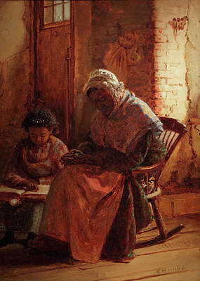 Negro Painting - Sunday Morning by Thomas Waterman Wood