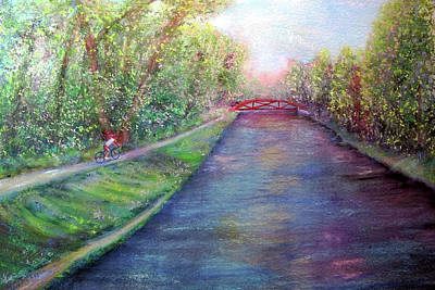 Painting - Sunday On The Towpath by Loretta Luglio