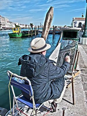 Painter Photograph - Sunday Painter by Heiko Koehrer-Wagner