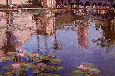 Sunday Reflections - Water Lilies Art Print