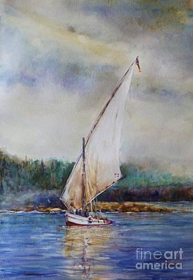 Pastel - Sunday Sail by Joyce A Guariglia