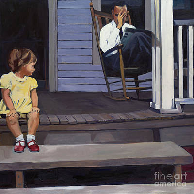 Rocking Chairs Painting - Sunday Sentinel by Deb Putnam