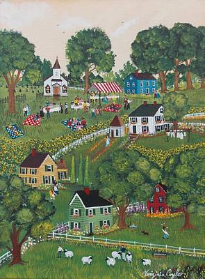 Painting - Sunday Social by Virginia Coyle