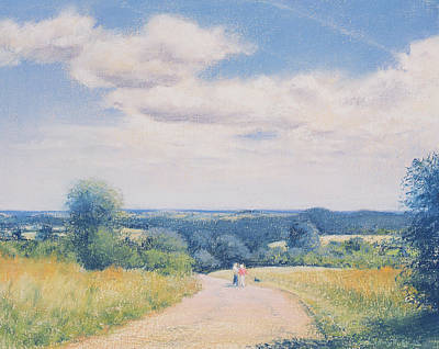 Dog Tracks Painting - Sunday Stroll by Anthony Rule